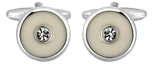 DALACO IVORY COLOUR & CRYSTAL CUFFLINKS