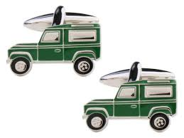 DALACO GREEN LAND ROVER CUFFLINKS
