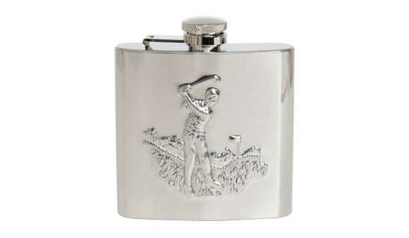 DALACO STAINLESS STEEL GOLFER HIP FLASK