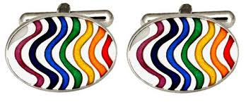 DALACO RAINBOW WAVE CUFFLINKS