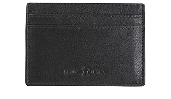 DALACO BLACK LEATHER RFID CARD HOLDER