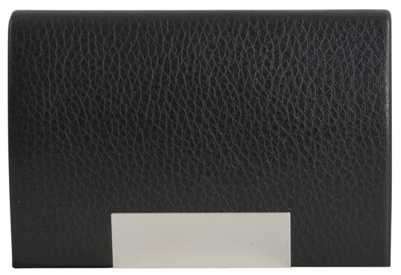 DALACO BLACK LEATHERETTE CARD CASE