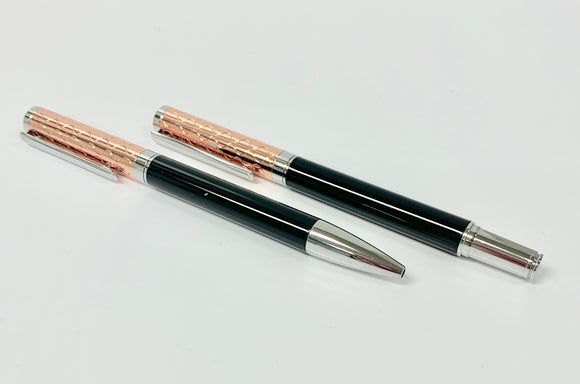 DALACO ROSE-BLACK FOUNTAIN & BALL PEN SET
