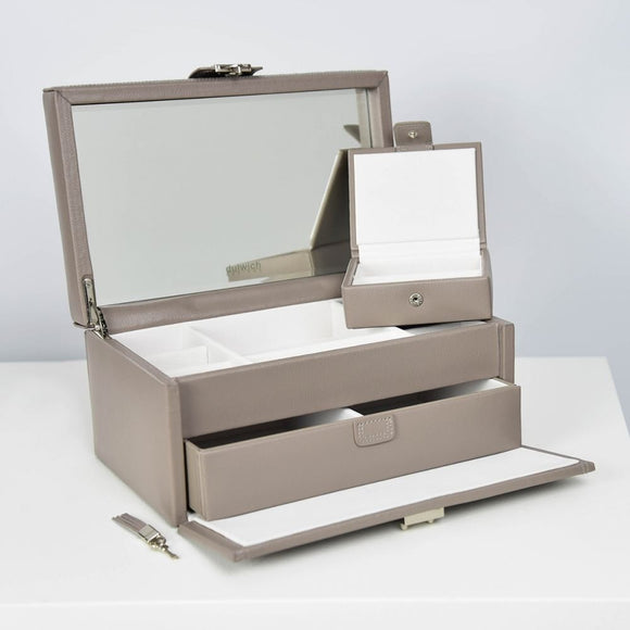 DULWICH LARGE LEATHER MINK JEWELLERY BOX