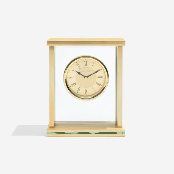 LONDON CLOCK GOLD FLAT TOP MANTEL CLOCK