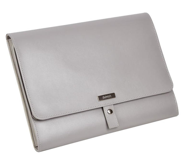 DULWICH GREY LEATHER TECH POCKET