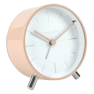 LONDON CLOCK BLUSH METAL ALARM CLOCK