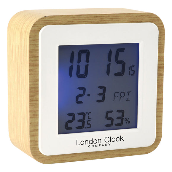 LONDON CLOCK SQUARE DIGITAL ALARM CLOCK