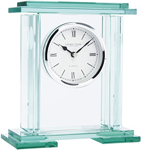 LONDON CLOCK GLASS MANTEL CLOCK
