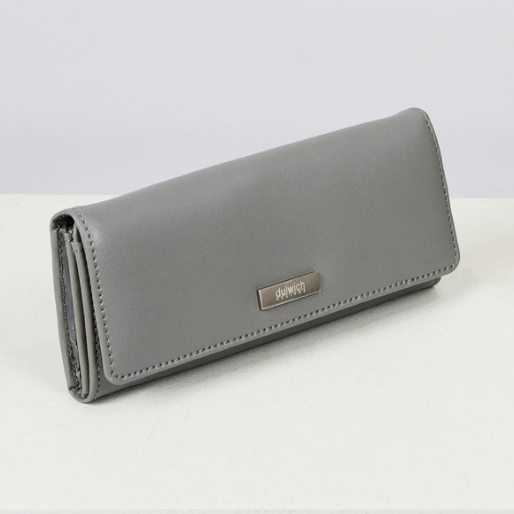 DULWICH GREY LEATHER PURSE