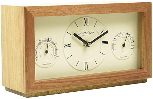 LONDON CLOCK THERMOMETER / HYGROMETER MANTEL CLOCK