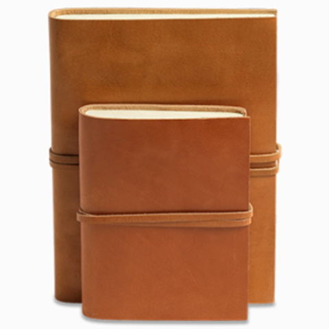 NKUKU RUSTIC TAN LEATHER JOURNAL