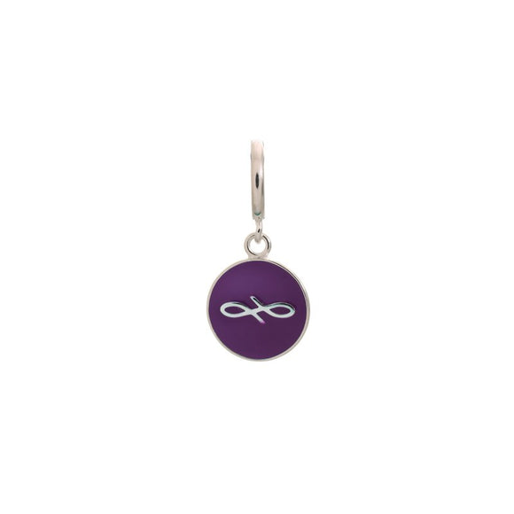 ENDLESS SILVER VIOLET ENAMEL ENDLESS COIN CHARM