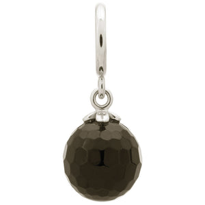 ENDLESS SILVER BLACK CRYSTAL LOVE DROP CHARM