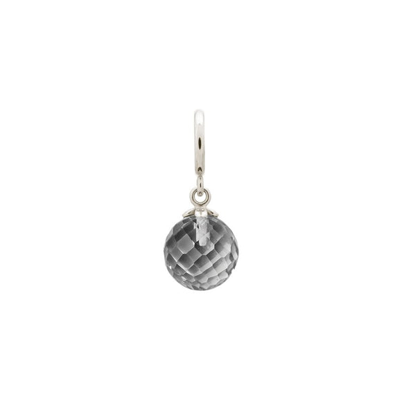 ENDLESS SILVER GREY CRYSTAL LOVE DROP CHARM