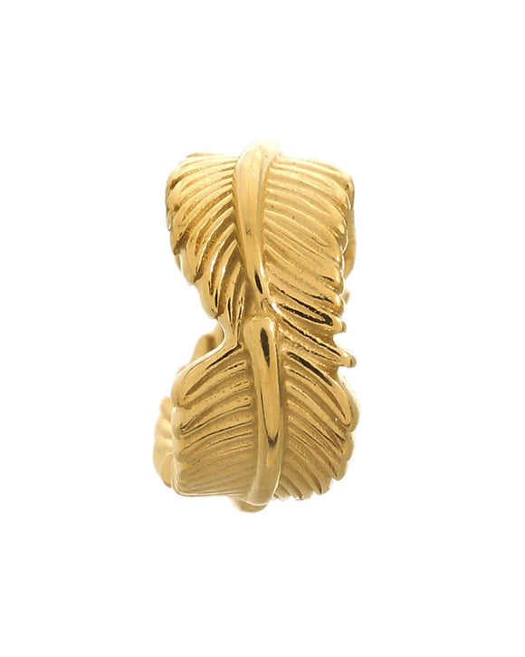 ENDLESS SILVER GOLD PLATED LEAF CHARM