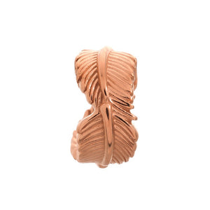 ENDLESS SILVER ROSE GOLD PLATED LEAF CHARM
