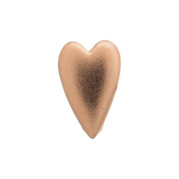 ENDLESS SILVER ROSE GOLD PLATED BRUSHED HEART CHARM