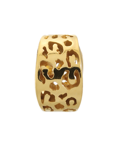 ENDLESS SILVER GOLD PLATED LEOPARD CUT CHARM