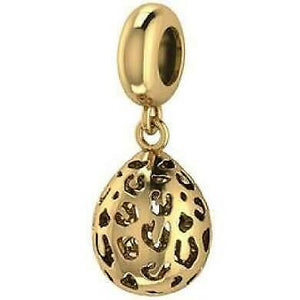 ENDLESS SILVER GOLD PLATED LEOPARD CUT DROP CHARM