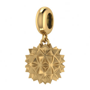 ENDLESS SILVER GOLD PLATED MORNING STAR DROP CHARM