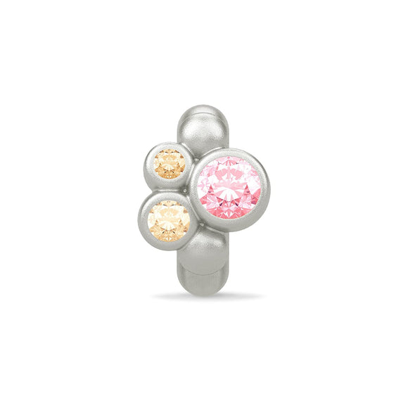 ENDLESS SILVER PINK CZ SWEET DREAMS CHARM