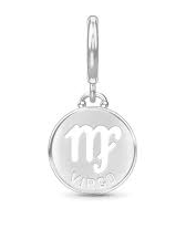 ENDLESS SILVER VIRGO ZODIAC COIN CHARM