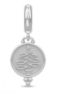 ENDLESS SILVER CHRISTMAS TREE COIN CHARM