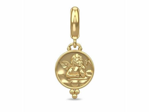 ENDLESS SILVER GOLD PLATED ANGEL COIN