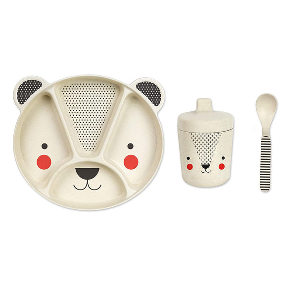 WILD & WOLF BAMBOO BABY BEAR 3 PIECE CHILD SET