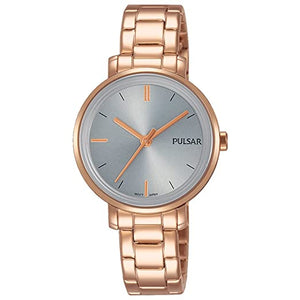PULSAR LADIES' ROSE GOLD DRESS WATCH
