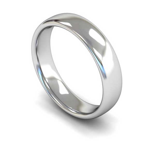9CT FAIRTRADE WHITE GOLD WEDDING RING