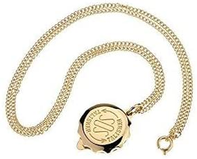 SOS GOLD PLATED TALISMAN PENDANT AND CHAIN - 22
