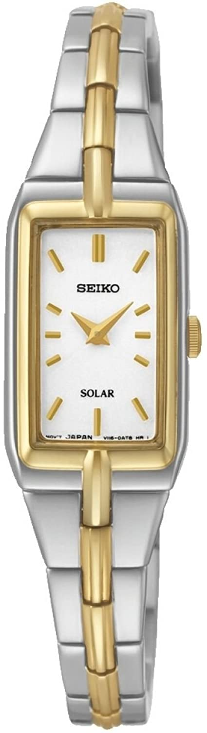 SEIKO LADIES' SOLAR TWO TONE DRESS WATCH