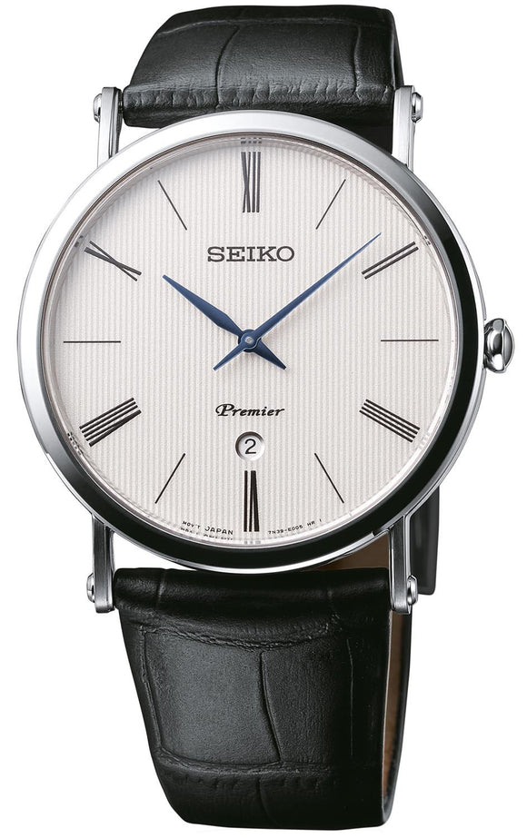 SEIKO MEN'S PREMIER ROUND WATCH