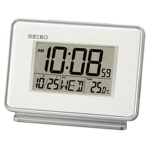 SEIKO DAY DATE AND TEMPERATURE DISPLAY ALARM CLOCK