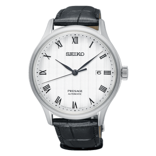 SEIKO MEN'S PRESAGE ROUND AUTOMATIC WATCH