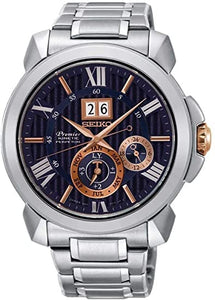SEIKO MEN'S PREMIER KINETIC PERPETUAL CALENDAR WATCH