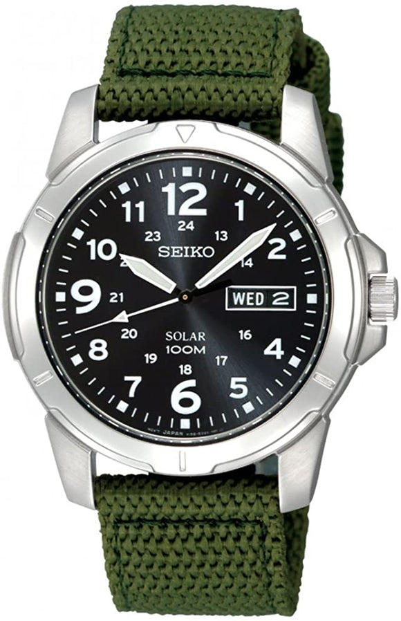 SEIKO MEN'S ROUND SOLAR WATCH