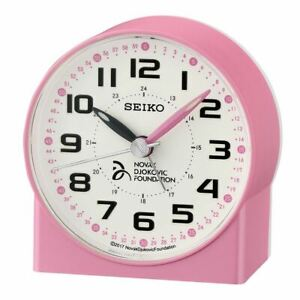 SEIKO NOVAK DJOKOVIC COLLECTION ROUND ALARM CLOCK
