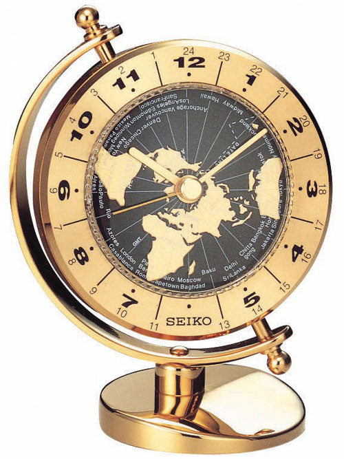 SEIKO GIMBALED GLOBE DESK CLOCK