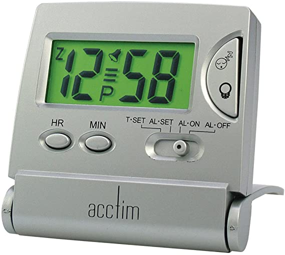 ACCTIM MINI LCD FLIP TRAVEL CLOCK