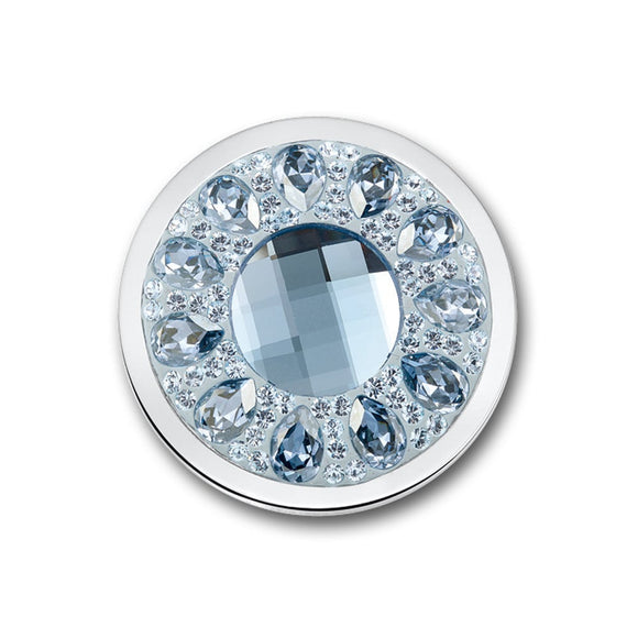 MI MONEDA VIVO ICE BLUE LARGE PENDANT DISC