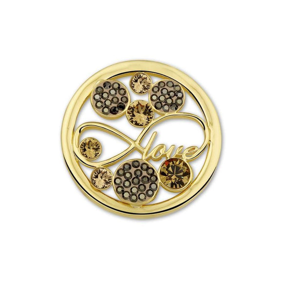 MI MONEDA LOVE CHAMPAGNE LARGE PENDANT DISC