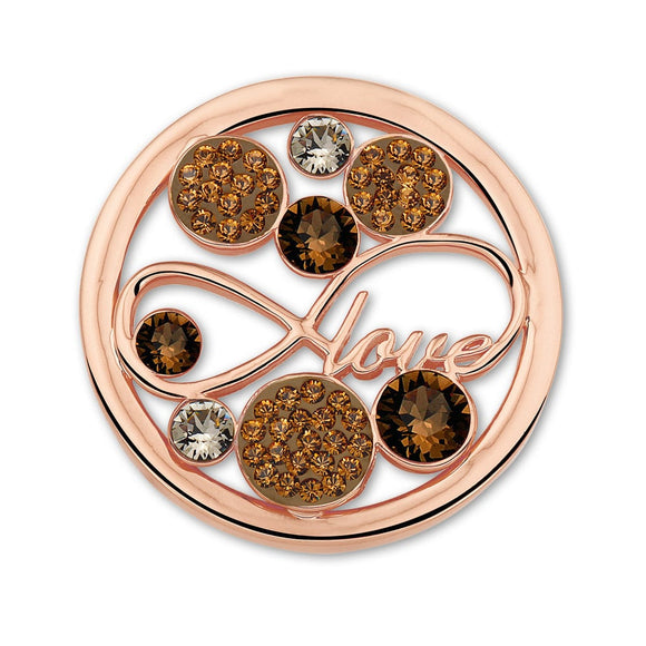 MI MONEDA LOVE PEACH LARGE PENDANT DISC