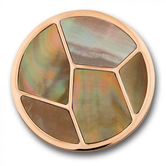 MI MONEDA DISENO SHELL BROWN LARGE PENDANT DISC