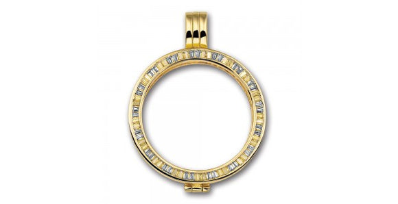 MI MONEDA GRACE SILVER & GOLD PLATED SMALL PENDANT HOLDER