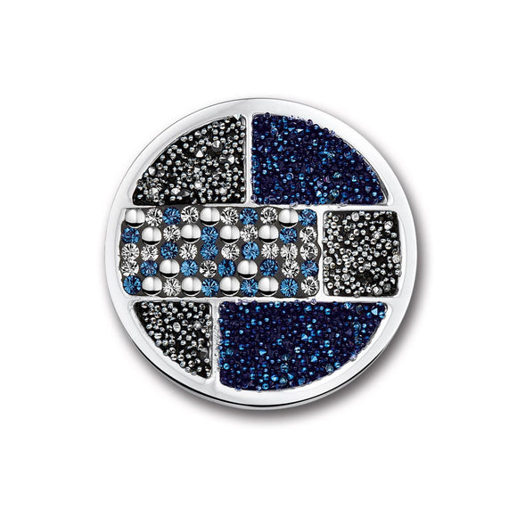 MI MONEDA CUADRO PACIFIC BLUE LARGE PENDANT DISC
