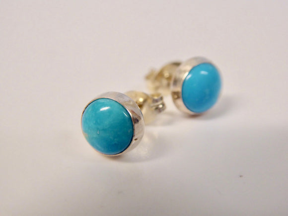 SILVER TURQUOISE EARINGS