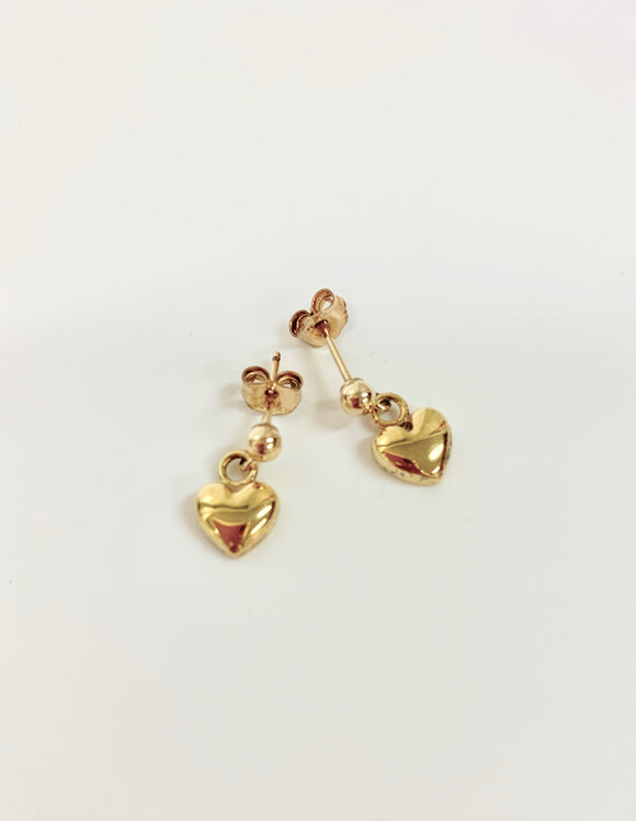 SILVER GOLD PLATED HEART EARRINGS